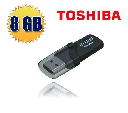 8GB Toshiba TransMemory USB 2.0 & USB 1.1 High Speed Flash Memory