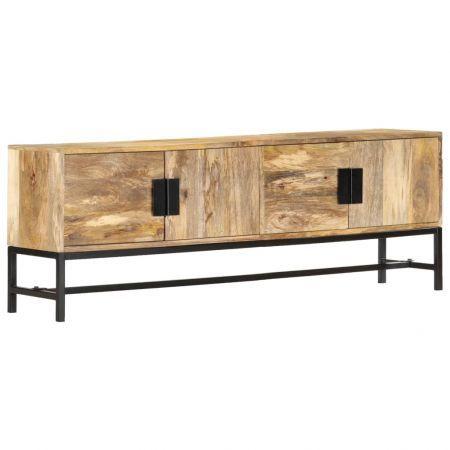 TV Cabinet 140x30x50 cm Solid Mango Wood   Crazy Sales