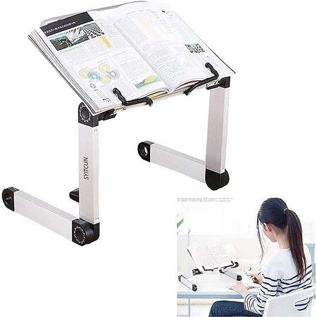 Adjustable Book Stand, Height and Angle Adjustable Ergonomic Book Holder with Page Paper Clips Durable Lightweight Aluminum Book Holder – Crazy Sales