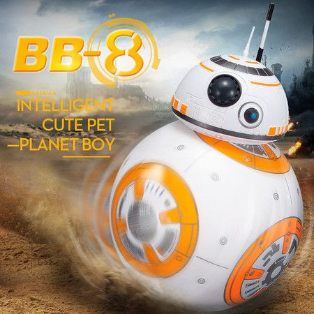 RC Robot BB8 Smart Upgrade Small Ball 2.4G Remote Control Droid RC Robot BB-8 Action Figure Toy Kid Gift with Sound Model - Crazy Sales