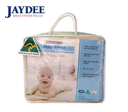 Jaydee Sovereign Fully Fitted Baby Wool Underblanket