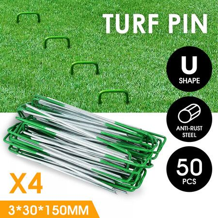 Artificial Grass Lawn Garden Tent Fence Nails Pins Pegs Fixers Stakes 200PCS Metal U Shape 3mm Thick   Crazy Sales