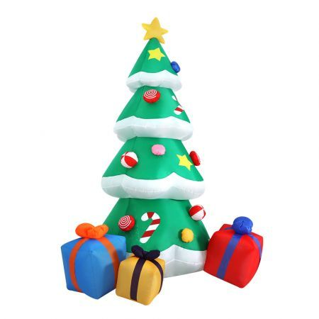 Jingle Jollys 3M Christmas Inflatable Tree LED Lights Outdoor Xmas Decorations | Crazy Sales