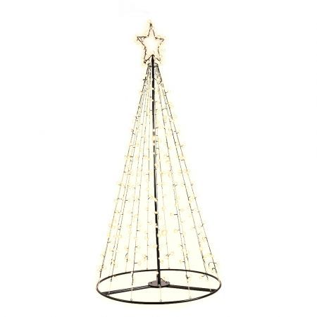 Jingle Jollys 2.1M Christmas Tree LED Lights Solar-powered Xmas Fibre Optic Warm White | Crazy Sales