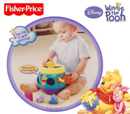 Fisher-Price Disney Winnie The Pooh 6 Pieces Hunny Pot Shape Sorter