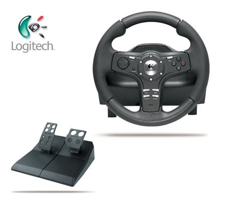 Logitech Driving Forcex Steering Wheel + Pedals for Gaming