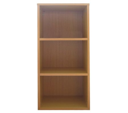 3 Tier Level Wooden Bookcase / Shelf / Storage Unit - Beige
