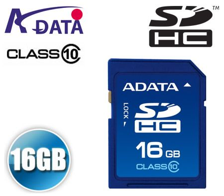 FREE SHIPPING! ADATA A-DATA 16GB 16 GB SDHC SD Secure Data High Capacity Storage Card 155X Class 10