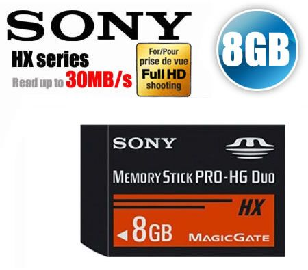 FREE SHIPPING! Sony 8GB Memory Stick PRO-HG Duo HX Series Multi-Use Memory Card MS-HX8A