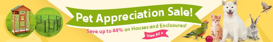 Save Up to 44% on Pet Houses and Enclosures!