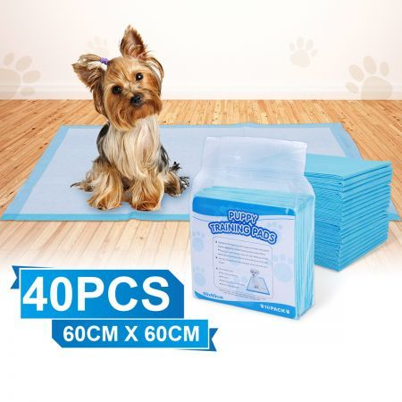 Pack of 40 60 cm x 60 cm Puppy Training Pads for Puppies & Indoor Dogs