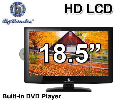"Highlander 18.5"" inch (47cm) HD High Definition Widescreen LCD TV with In-Built DVD Player - MSDV1916-O3-D0"