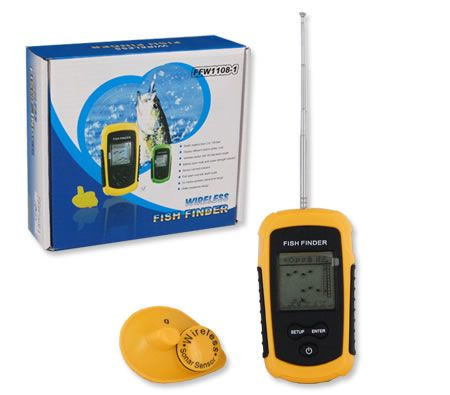 Wireless Portable Versatile Sonar LCD Fish Finder with Fish Alert