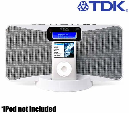 tdk islim flat panel speaker system for ipod in white crazy sales rh crazysales com au