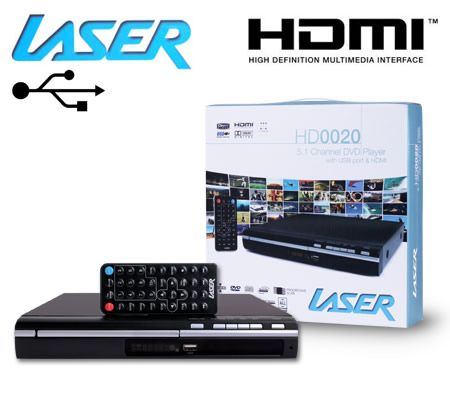 Laser 5.1 Channel DVD Player with USB Port & HDMI