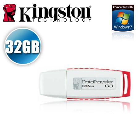 FREE SHIPPING! Kingston 32GB DataTraveler G3 USB Flash Drive 32 GB 32G USB Pen Drive