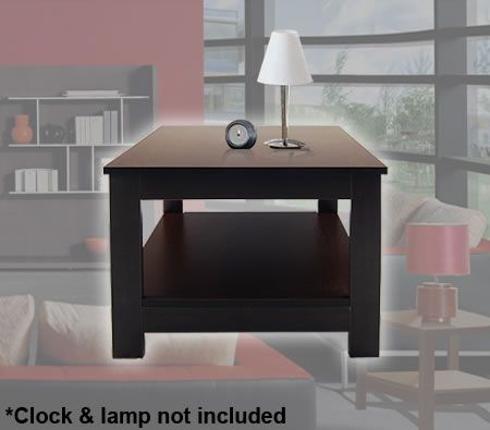Stylish Chocolate Colour MDF Morris Side Lamp Table
