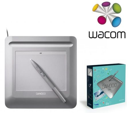 Wacom CTF-430 Bamboo One Drawing Pen Tablet - Silver