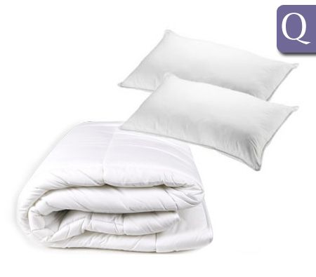 Queen Bed Luxury Microfibre 270GSM Quilt & 650GSM Pillow Pack