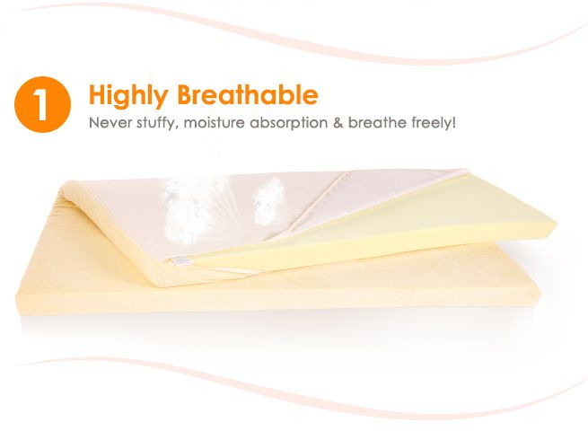 memory foam mattress topper single bed 5cm visco elastic. Black Bedroom Furniture Sets. Home Design Ideas
