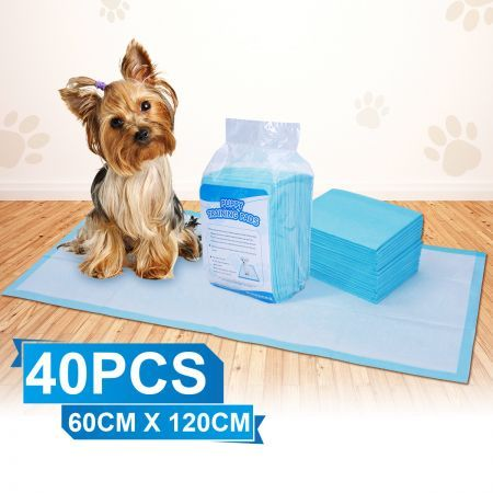 Pack of 40PCs 60 cm x 120 cm Puppy Training Pads for Puppies & Indoor Dogs