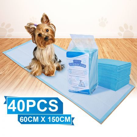 Pack of 40PCs 60 cm x 150 cm Puppy Training Pads for Puppies & Indoor Dogs
