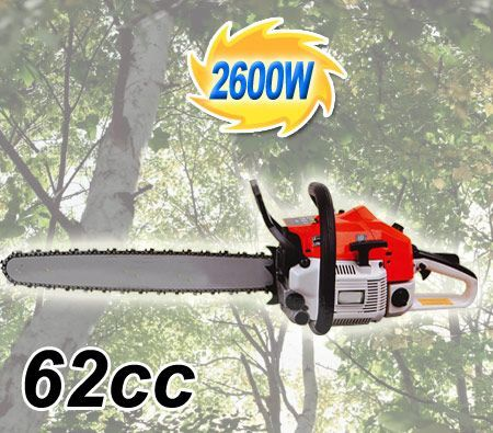 "62cc Gasoline Chainsaw 24"" inch Bar Max Power 7,000rpm"