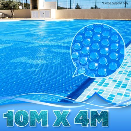 400 micron solar outdoor swimming pool cover blanket 10 for Garden pool with cover