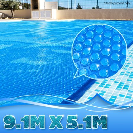 Charmant 400 Micron Solar Outdoor Swimming Pool Cover Blanket   9.1M X 5.1M