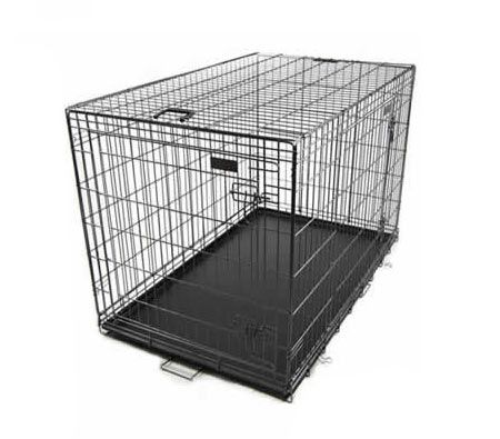 Collapsible pet cage dog crate 42quot extra large xl size for Xl dog crate furniture