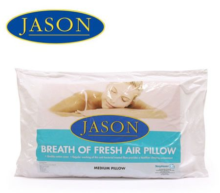 Jason Breath of Fresh Air Allergy-free Polyester Fibre Medium Pillow with Cotton Pillow Cover