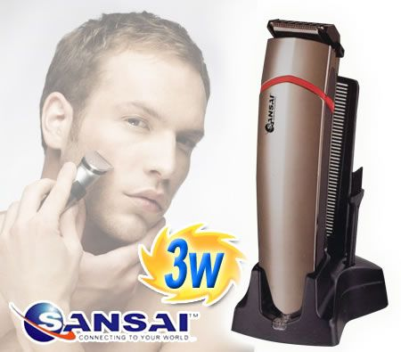 sansai rechargeable cordless washable high precision hair beard trimmer. Black Bedroom Furniture Sets. Home Design Ideas