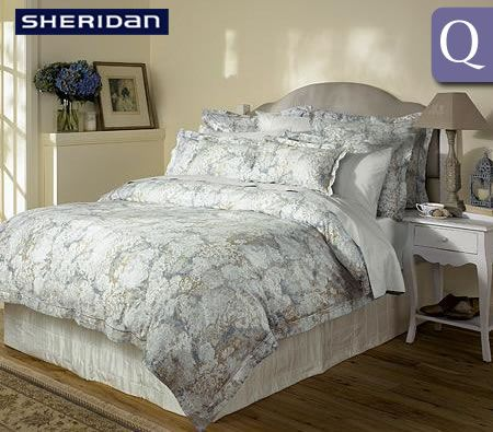 Sheridan Deluxe Living Queen Bed 400TC Cotton Quilt Cover Set - Highgrove