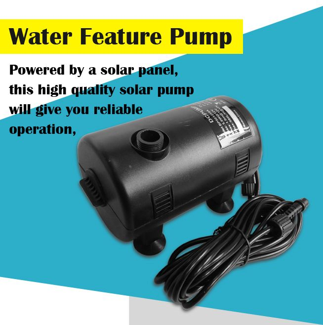 ... 10W Solar Power Fountain/Pond/Pool Water Feature Pump Kit with Timer &  LED ...