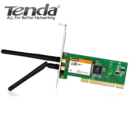 Tenda 300Mbps Wireless PCI Adapter with Detachable Antenna W322P+