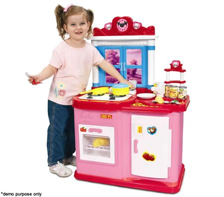 Interactive electronic toy kitchen play set with music and for Kitchen set video song