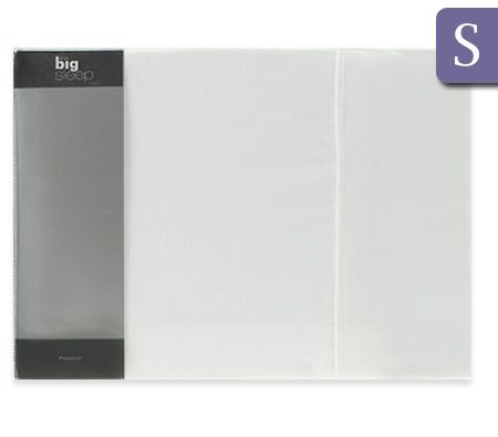 The Big Sleep Luxury Single Bed Size Fitted & Flat Sheet / Pillowcase Set - White 75gsm Microfibre