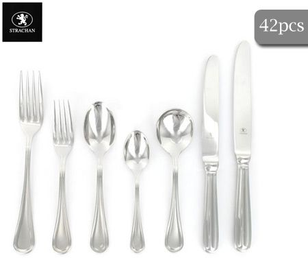 Strachan English Thread 42 Piece Cutlery Set