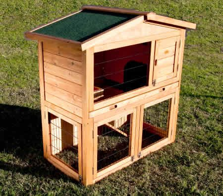 Indoor Outdoor Rabbit Guinea Pig Cage Hutch House With