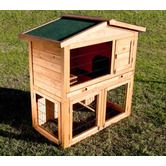 Indoor / Outdoor Rabbit / Guinea Pig Cage Hutch House with Wire Door