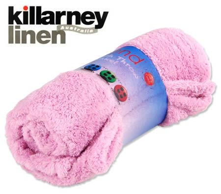 Killarney Trend Plush Throw Blanket - Pink