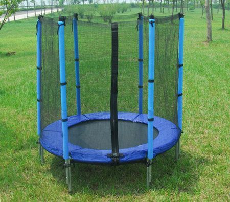 4 5 Feet Trampoline With Safety Net Mat Pad Trampo4