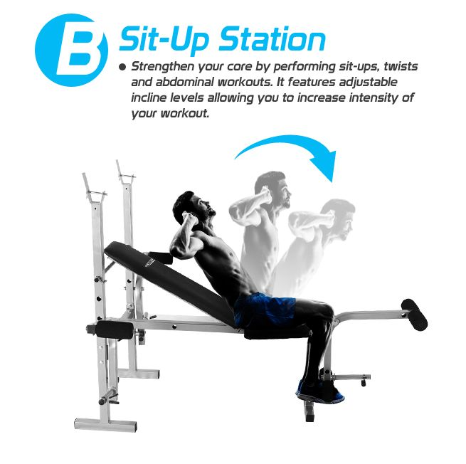Bench Press Person: Home Gym Weight Station Bench Press - Multi Level