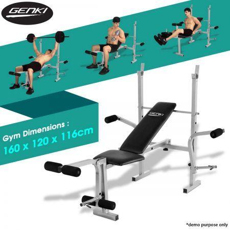 Genki Home Gym Weight Station Bench Press - Multi Level