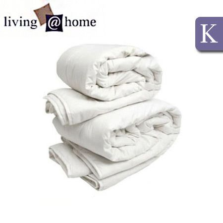 Living At Home Two Quilts In One 350gsm & 250gsm All Season Wool Quilt - King