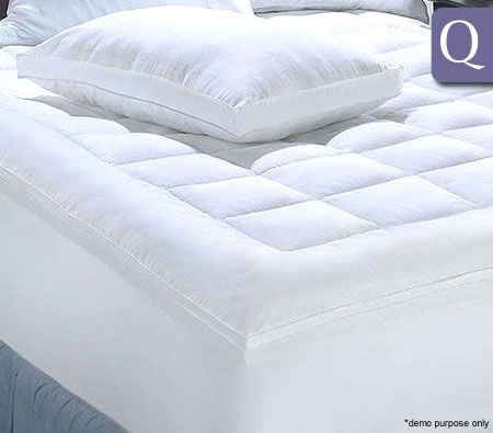 Living At Home Mattress Topper 600GSM with Puff Ball Fill + Cotton Cover - Queen