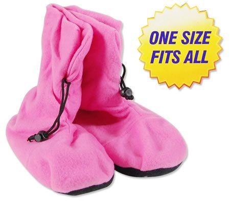 Hot / Cold Comfy Booties Pink House Slippers - One Size Fits All