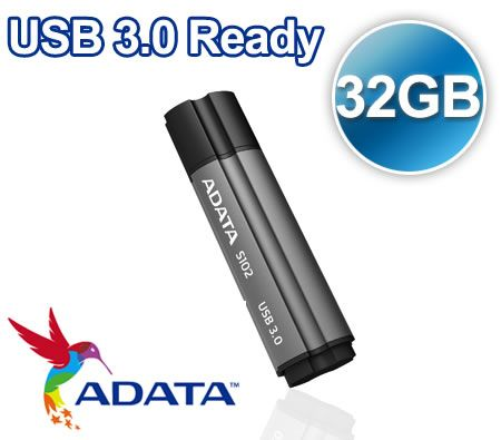 FREE SHIPPING! ADATA 32GB S102 USB 3.0 Portable Flash Pen Drive