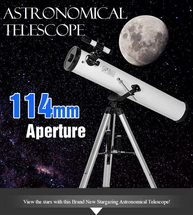 Astronomical Telescope 114mm Aperture 675x Zoom