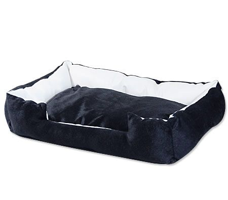 Soft Padded Medium to Large Pet Dog Bed w High Edge - 70cm x 50cm